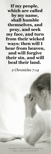 Prayer, 2 Chronicles 7:14